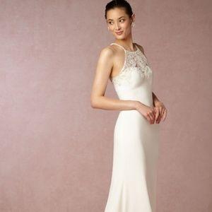 BHLDN Wedding Dress w/ Shawl-Julianne Gown Size 8